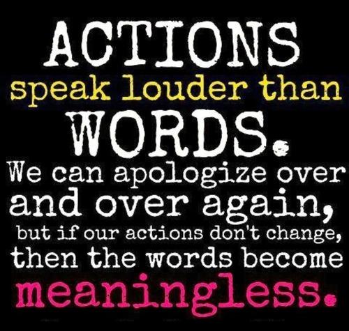 Actions speak louder than words essay